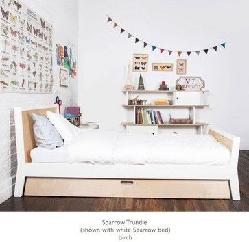 Sparrow Twin Bed with Optional Trundle by Oeuf | 1SPTW0X and 3SPTR - modern - kids beds - themodernbedroom.com