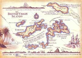 british virgin islands in an antique style