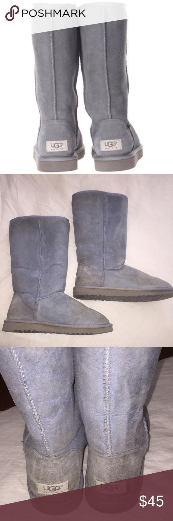 47acf9698e8 Ugg Classic Light Blue Tall Sheepskin Boots 9 This is a Ugg ...