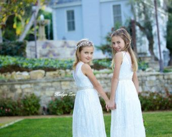 The Emma Elizabeth Lace Flower Girl Dress for by kailynzoeandco