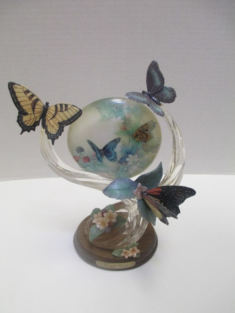 "Butterfly Garden Figurine Lena Liu On Gentle Wings ""Fanciful Garden"" Collectible"