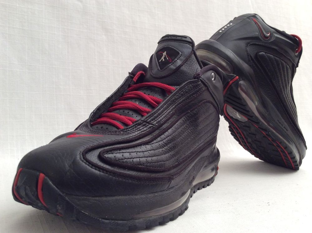 NIKE AIR KEN GRIFFEY JR G6 BASKETBALL SHOES SIZE 10 BLACK VARSITY RED VERY  RARE  Nike  BasketballShoes 20dc64080