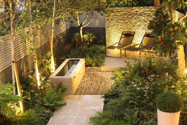 gartengestaltung-modern-beleuchtung-trockenmauer-natursteine - bilder gartengestaltung modern