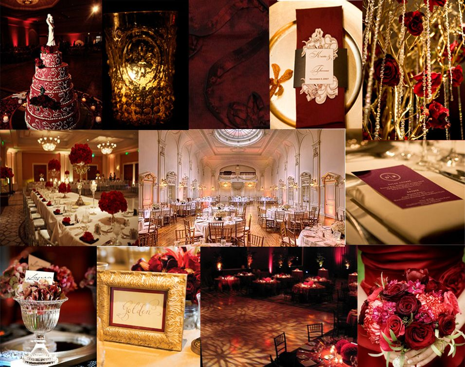 champagne and ruby red wedding, christmas - Google Search ...