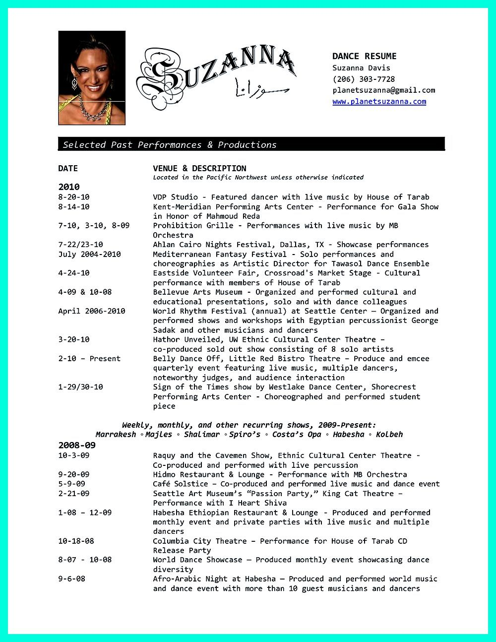 Dance Resume Can Be Used For Both Novice And Professional Dancer Most Job Of Dancer Has Minimum Requirements That Not All Of Dancers Can Meet Howeve Dance