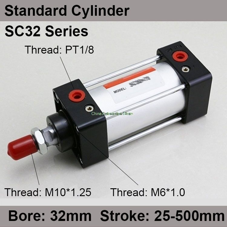 Sc32 200 Rod Aluminum Alloy Standard Cylinder Sc32x200 Pneumatic Components 32mm Bore 200mm Stroke Cylinder Cool Things To Buy Rod