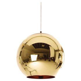 Copper 1 Light Bowl Pendant