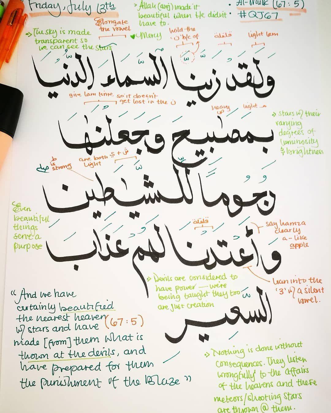 Qj67 Surat Al Mulk Ayah 5 And We Have Certainly