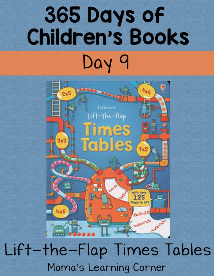 Lift the Flap Times Tables: Day 9 of 365 Days of Children\'s Books ...