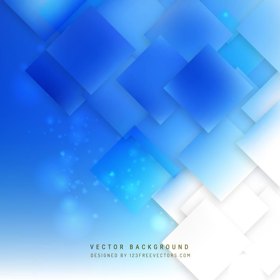 Abstract Cobalt Blue Square Background Pattern Background