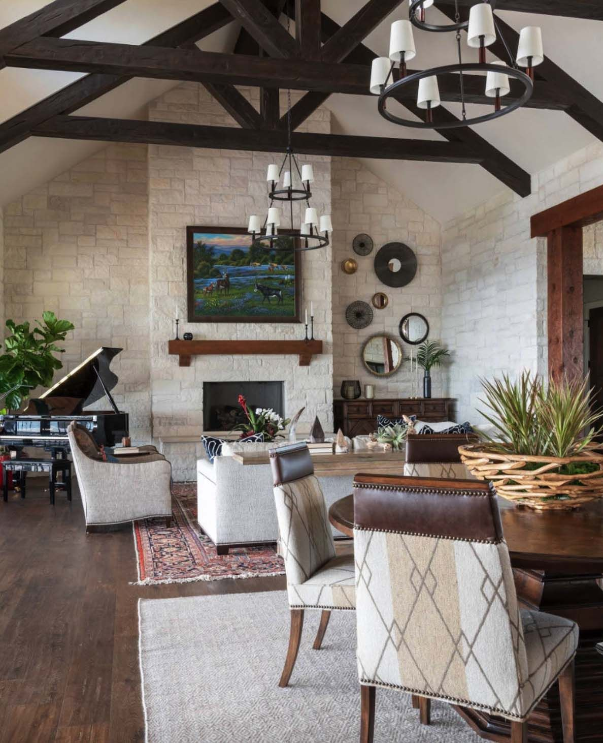 Delightful hilltop ranch house embraces the texas hill country style residential lighting interior design also rh pinterest