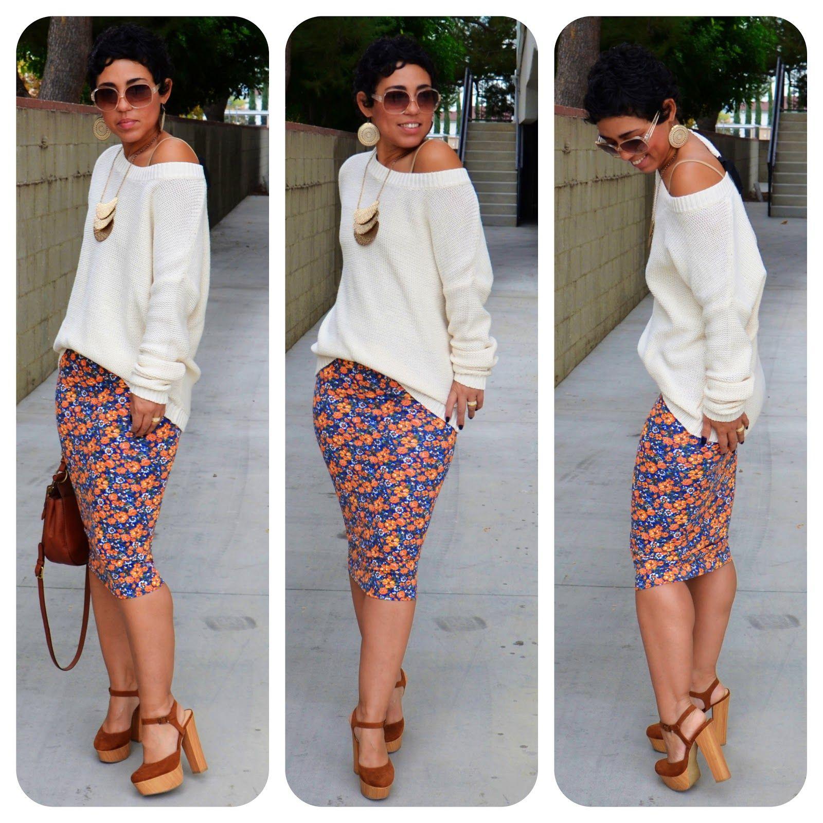 mimi g.: DIY Pencil Skirt & Oversized Sweater   A COUPON CODE ...
