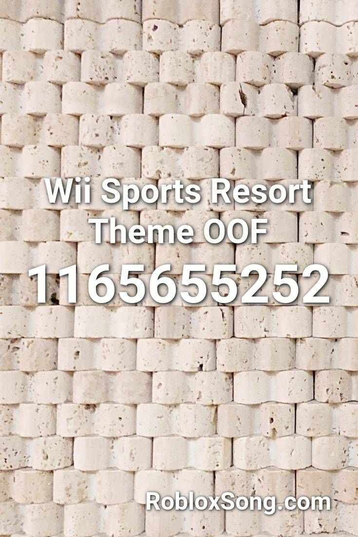 Wii Sports Resort Theme Oof Roblox ID Roblox Music Codes