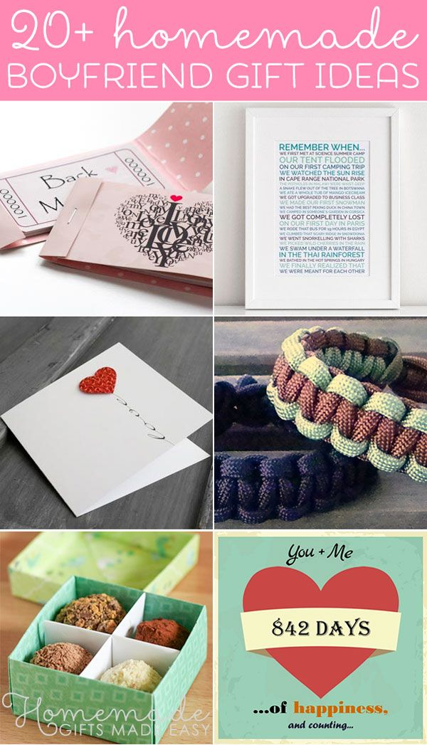 Best Homemade Boyfriend Gift Ideas Romantic Cute And Creative Homemade Gifts For Boyfriend Boyfriend Gifts Christmas Ideas For Boyfriend