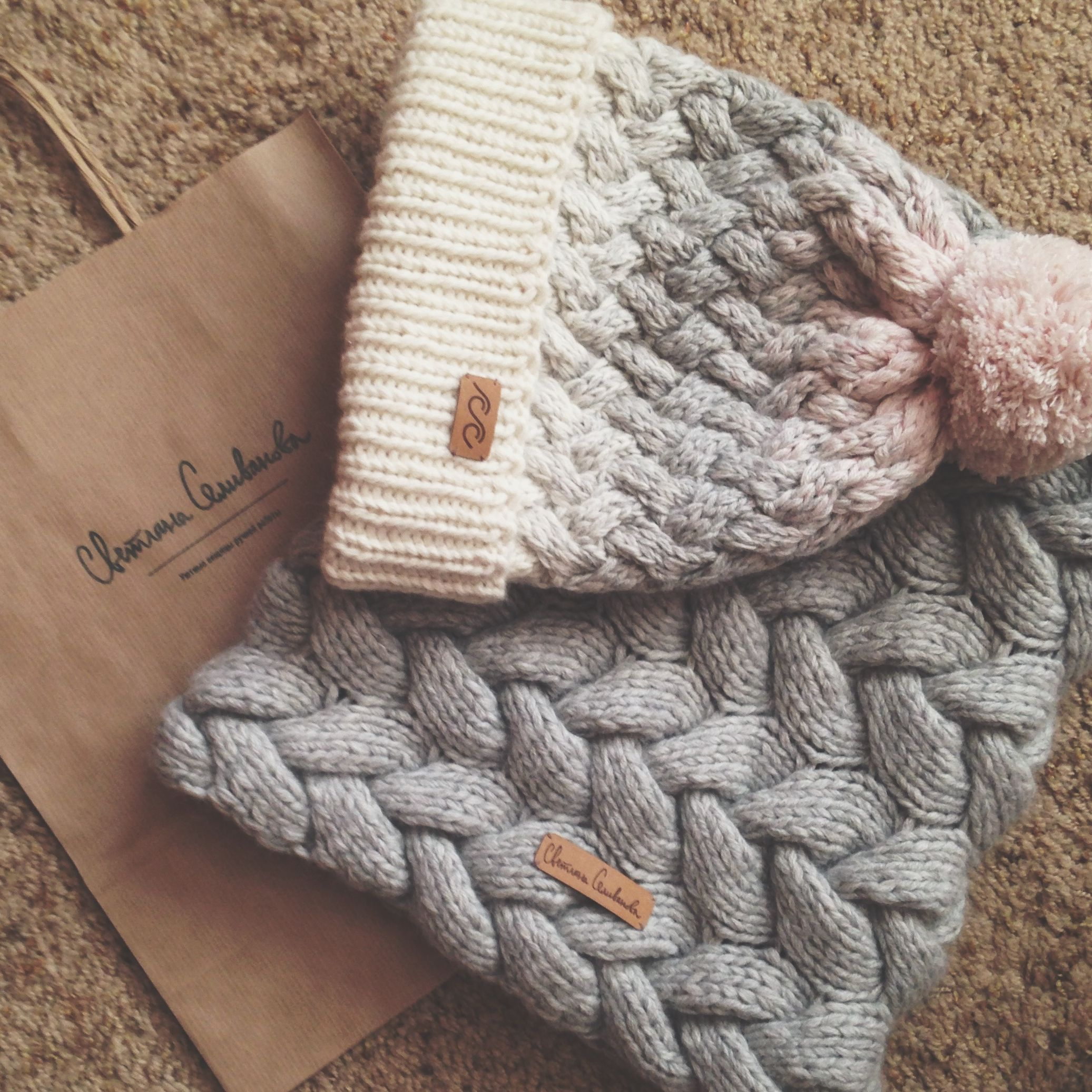 Knitted hat and cowl | My handmade | Pinterest | Knit hats ...
