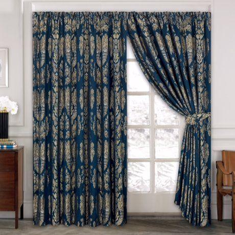 Premium Jacquard Pencil Pleat Eyelet Curtains Fully Lined Ready Made /& Tie Backs