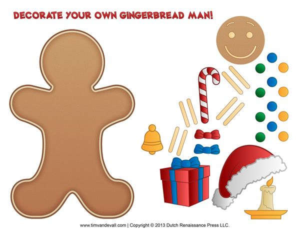 Gingerbread Man Printable Activity For Kids Gingerbread