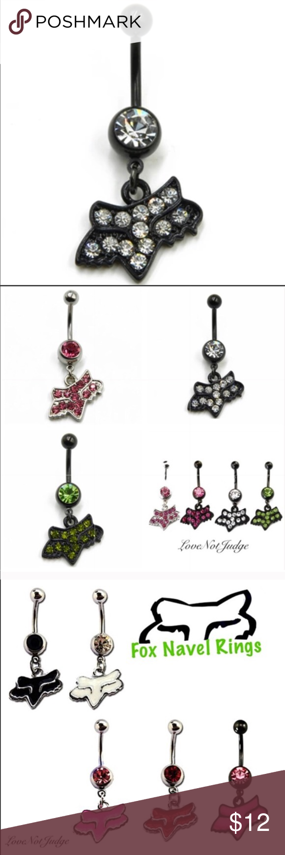 Fox Racing Brand Belly Button Rings Diamond Boutique Pinterest