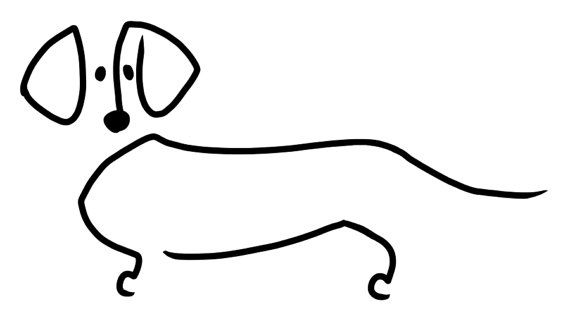 Schnauzer Drawing Easy: Dachshunds, Etsy And