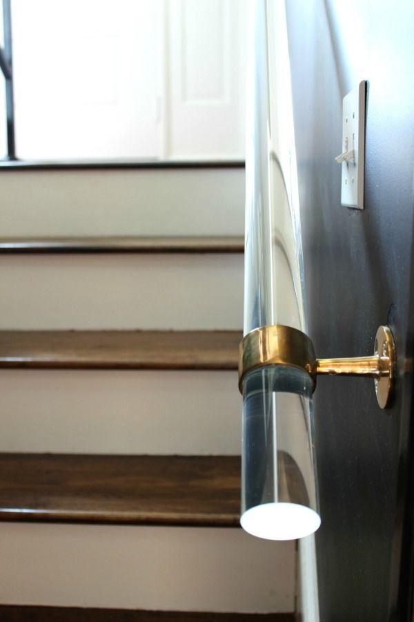 Diy Lucite Handrail Handrail Easy Home Decor Handmade Home Decor   Acrylic Handrails For Stairs   Design   Modern Stair   Glitter   Plexiglass   Decorative