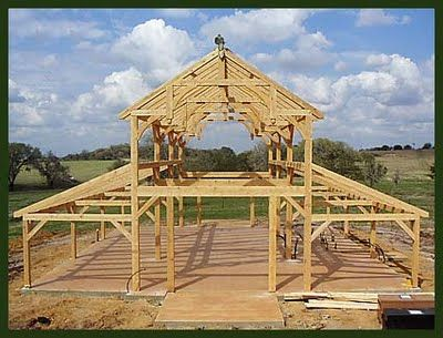 Timberframe monitor barn straw bale timberframe hybrid for Straw bale garage plans