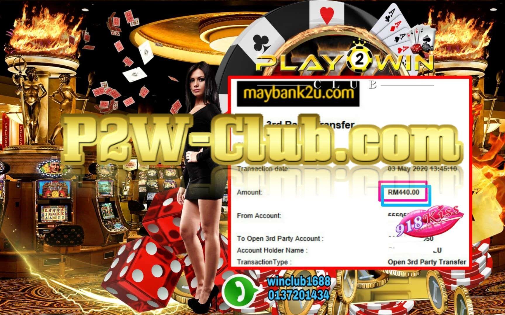 SCR888 918Kiss Kiss918 Online Casino BigWin Jackpot | P2W-Club.com