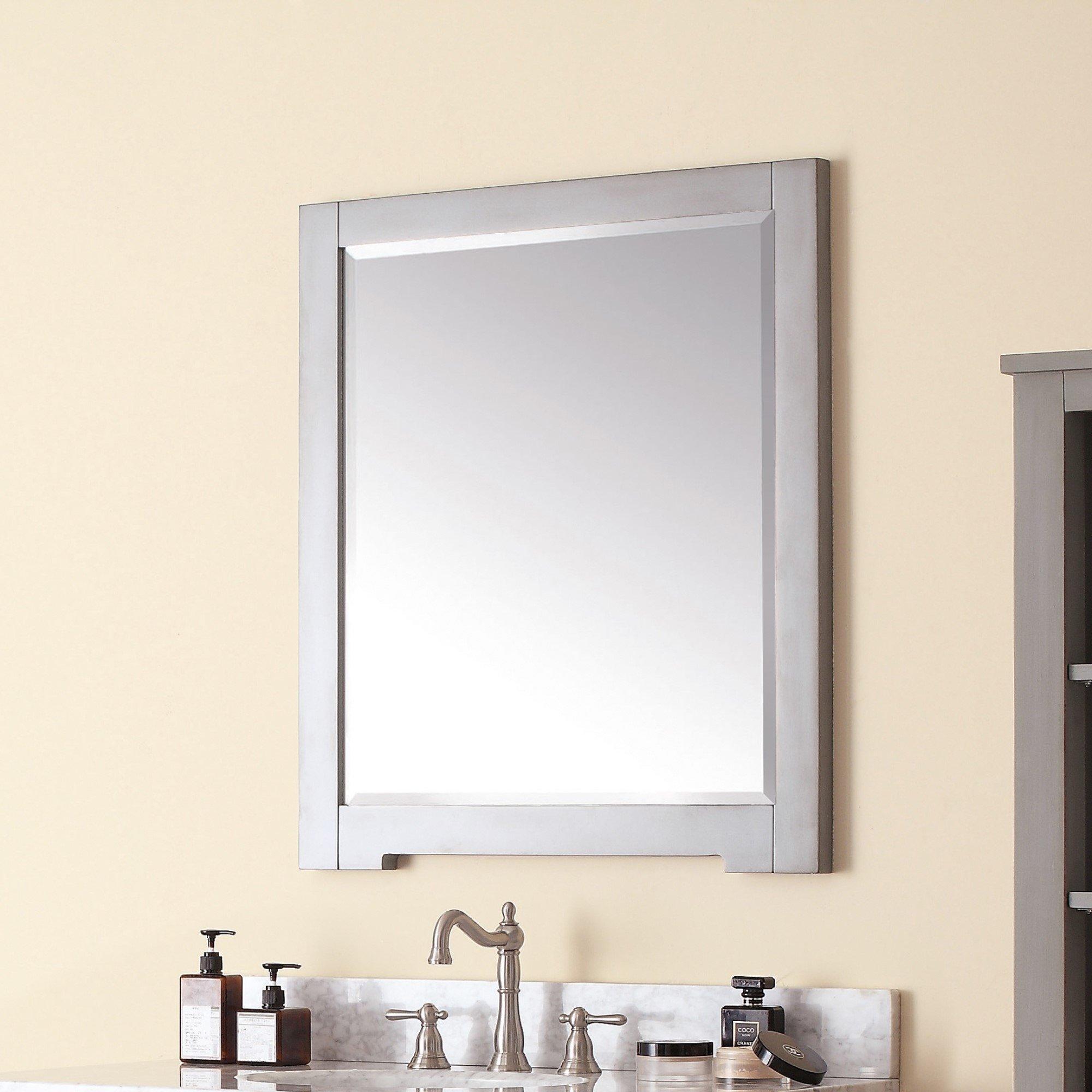 Avanity Kelly 28 In Wall Mirror Grey Blue Grayish Blue 28 W