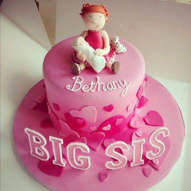 Big Sister Cake Baby Hearts Dalmatian Cake Custom Cakes No