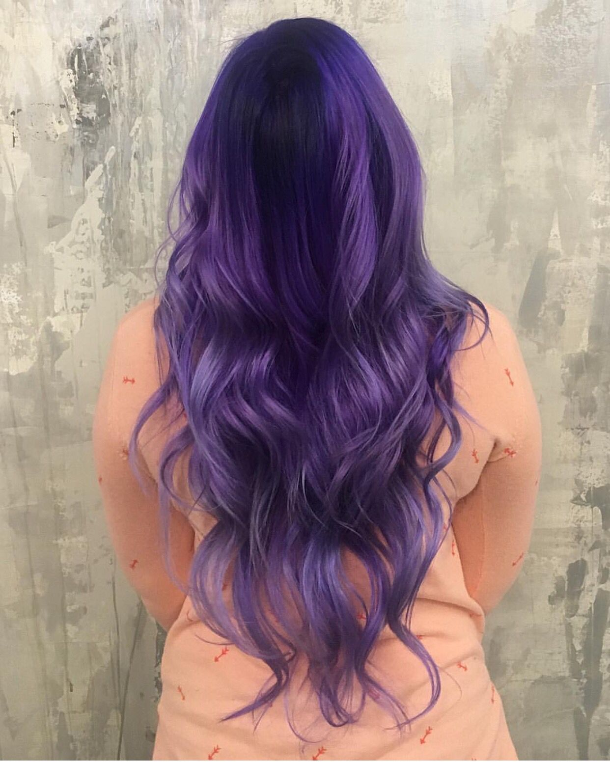 Art color hair - Long Flowing Hair Decorated With A Purple Color Melt By Breanna_anythingbutbasic Hotonbeauty Com Purple