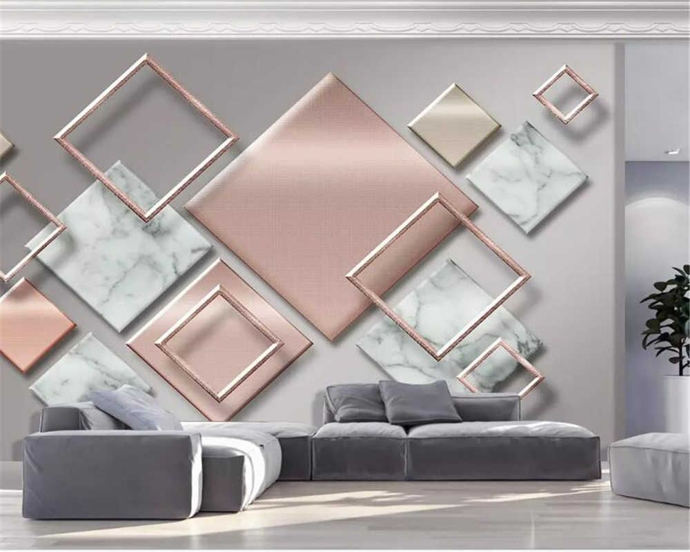 Custom Photo Wallpaper Modern Geometric Marble 3d Wall Murals Living Room Bedroom Backdrop Wall Papers For Walls 3 D Home Decor Aliexpress Wall Art Decor Living Room Wall Painting