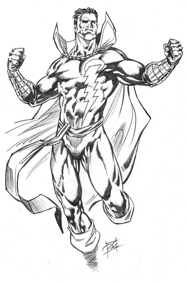 captain marvel shazam art drawings bing images marvel