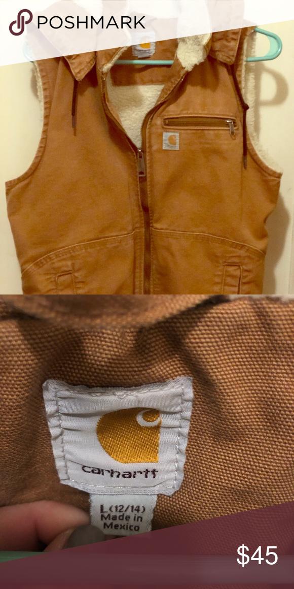 Carhartt Women's Weathered Duck Vest Carhartt Women's Weathered Duck Wildwood Vest, Brown, Large Washed, but never worn. Carhartt Jackets & Coats Vests #carharttwomen