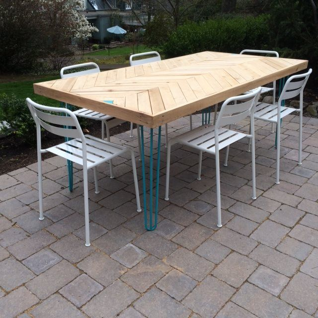 Can Metal Hairpin Table Legs Be Used Outdoors They Treated For Best Protection Have A Look At What Our Customers Are Doing With Their