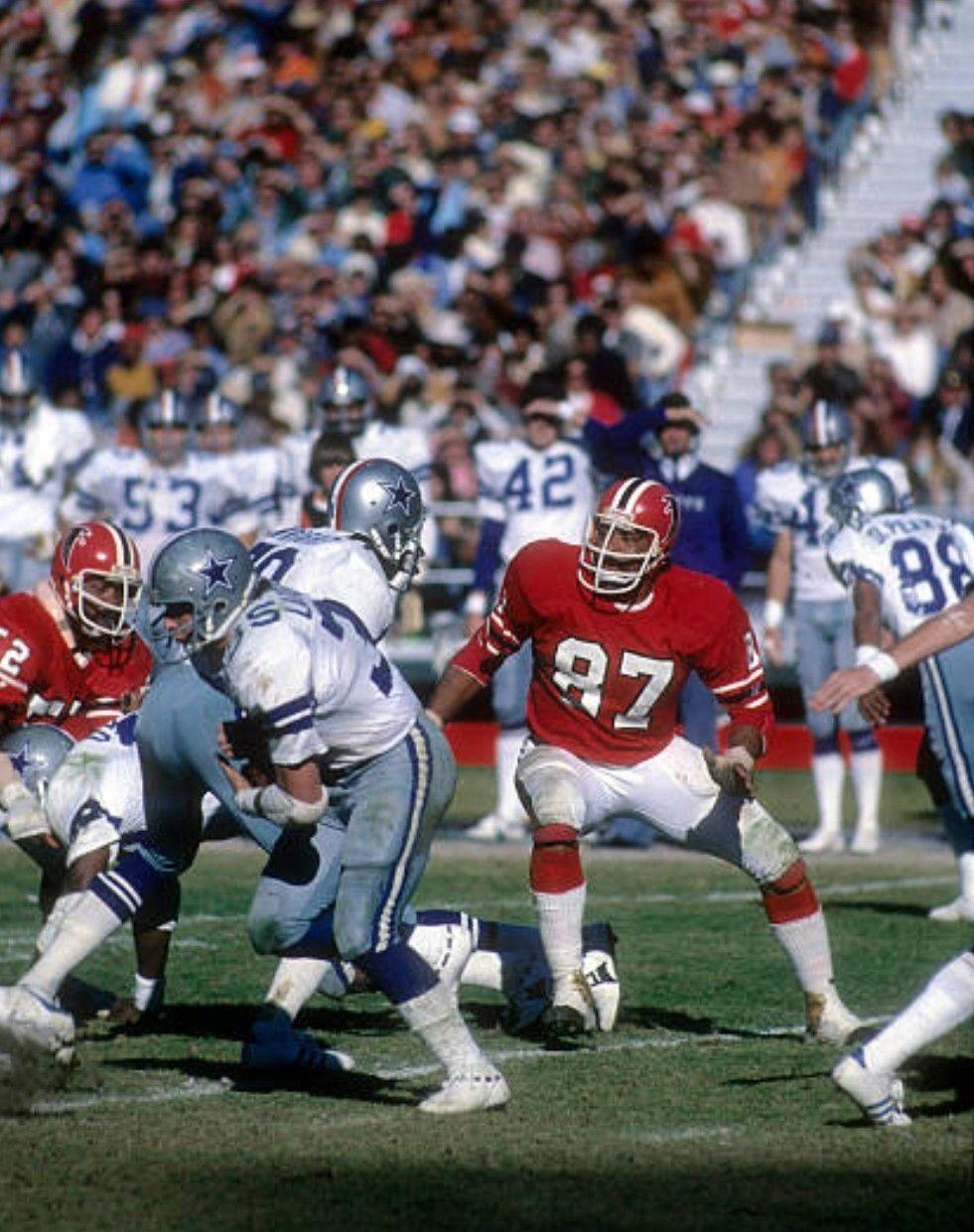 1976 Cowboys At Falcons Nfl Uniforms American Football League Nfl History