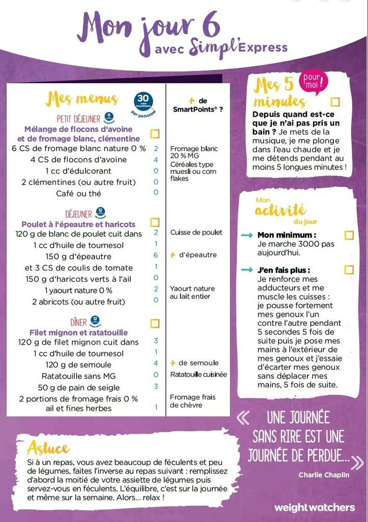 1ere semaine de menu simpl express menu type regime menus healthy healthy recipes