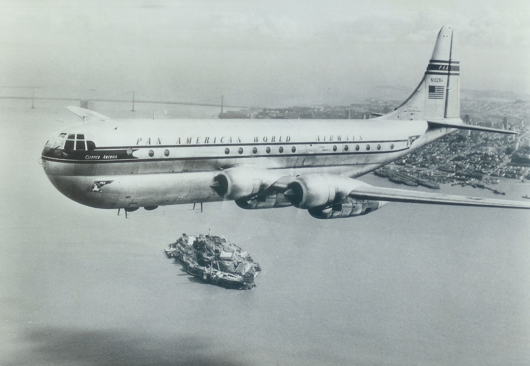 Boeing 377 Stratocruiser. Official Pan American World