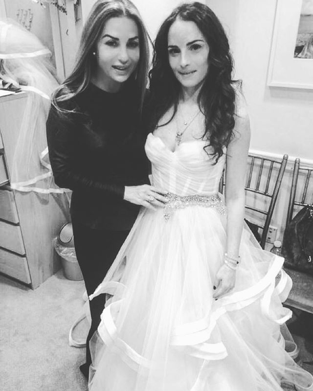 One of the fun parts of my job is working with my #PninaBride's on their dream gown. Loved working with @__nicolettee__  on her stunning gown!  Of course having the best alterations team in the world at @kleinfeldbridal makes everything even better.