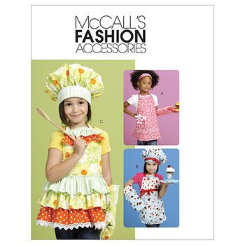 Aprons, Hats, Headband And Mitt-One Size Only Pattern | Apron Ideas ...