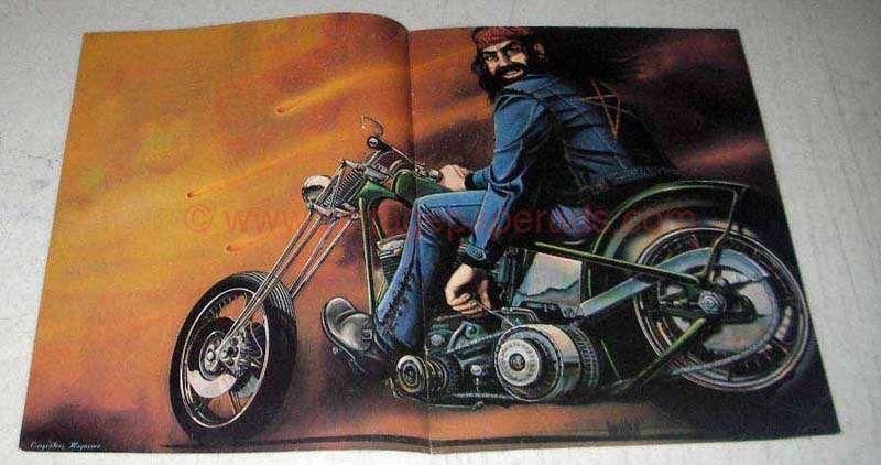 Ghost Rider David Mann Motorcycle Art Fabric Poster HD Print Multi Sizes