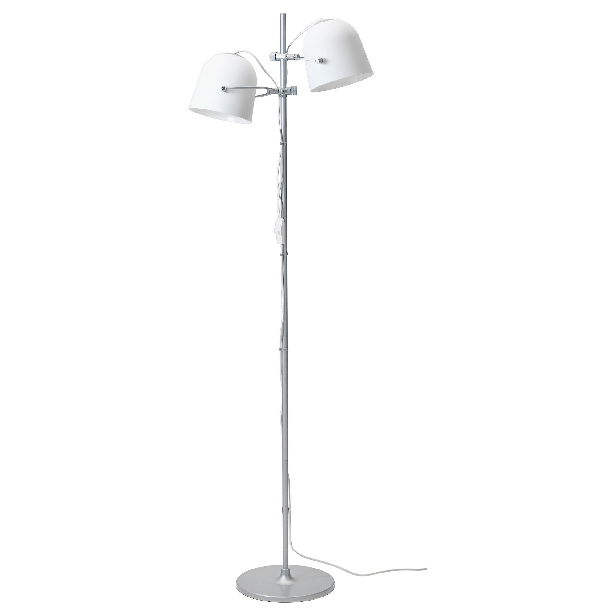 Svirvel Standleuchte Mit 2 Schirmen Weiss Bodenlampe