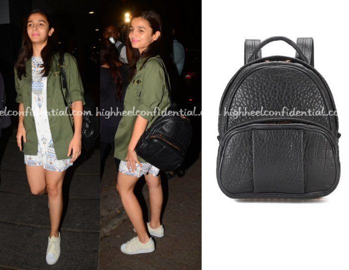 Alia Bhatt Alexander Wang Backpack Fashion High Heels Movie Star Dress
