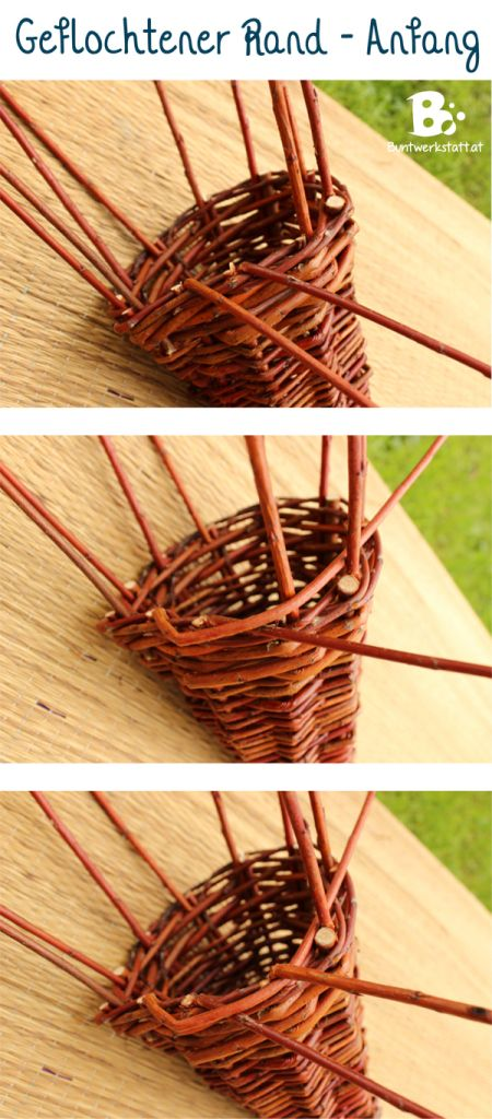 weiden flechten f llhorn zopfrand garten pinterest willow weaving wreaths and craft. Black Bedroom Furniture Sets. Home Design Ideas