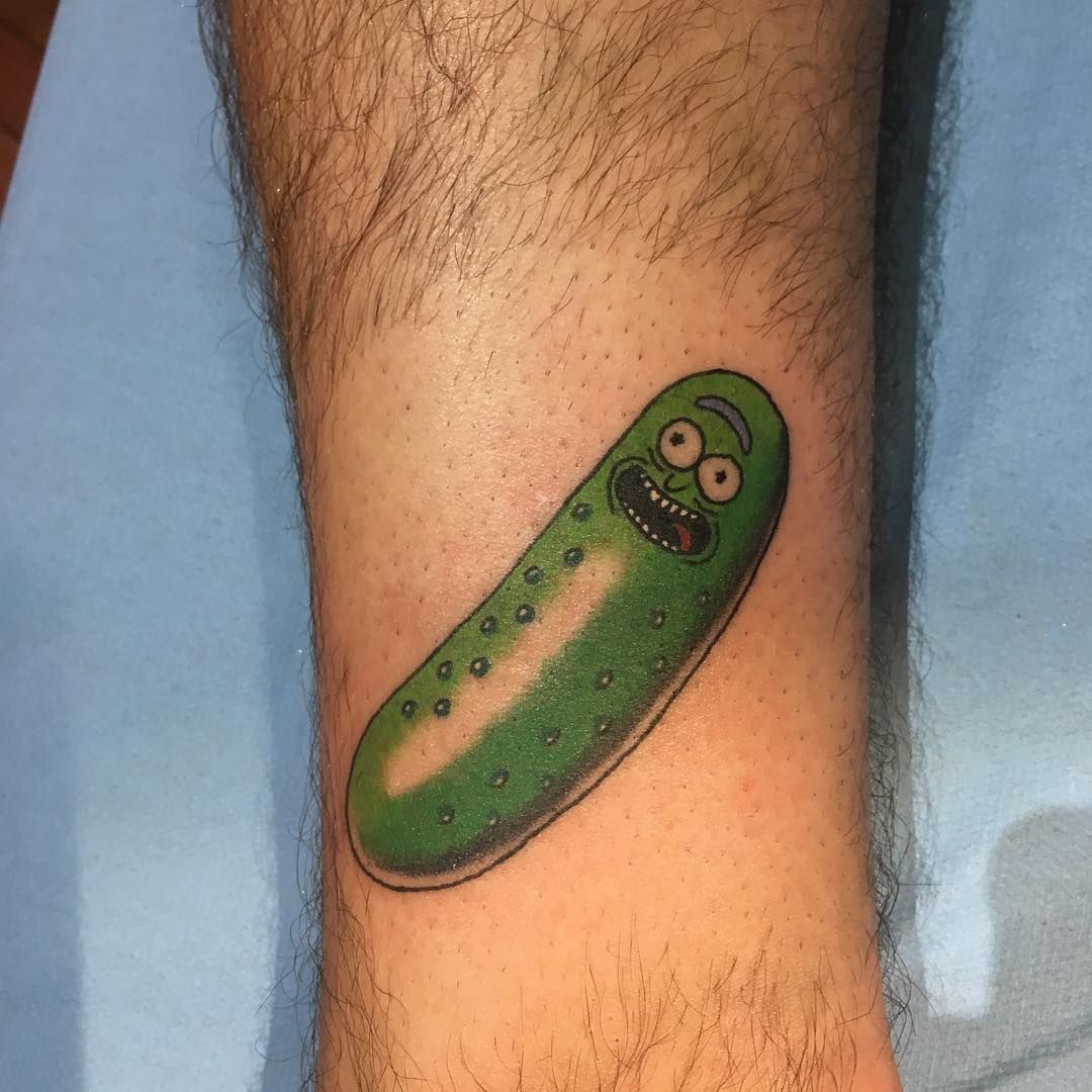 images 50 Pickle Rick Tattoo Ideas For Men – Rick And Morty Designs