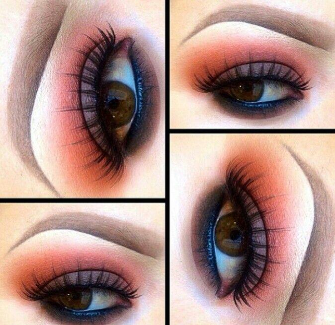 Rust color shadow eyeshadow
