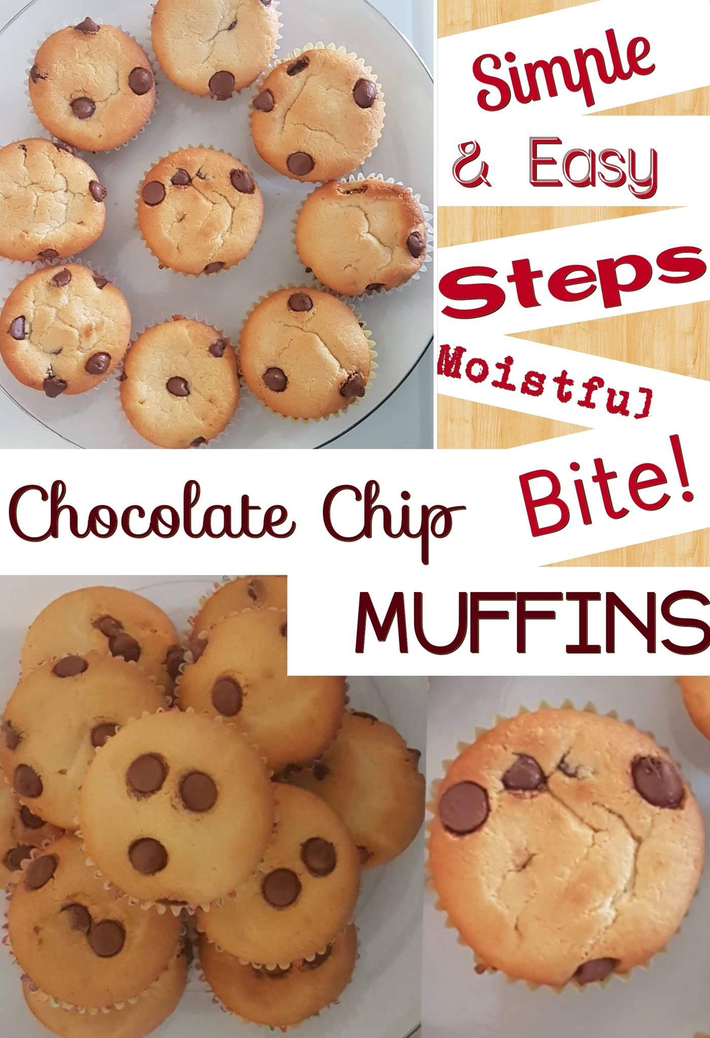 Küche stößt auf ideen moist chocolate chip muffin  i fill life pins  pinterest