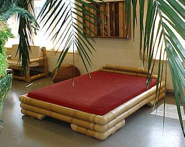 Bamboo Bedroom Theme | MariGold Bamboo Bed Furniture   Exclusive Bedroom  Bamboo .