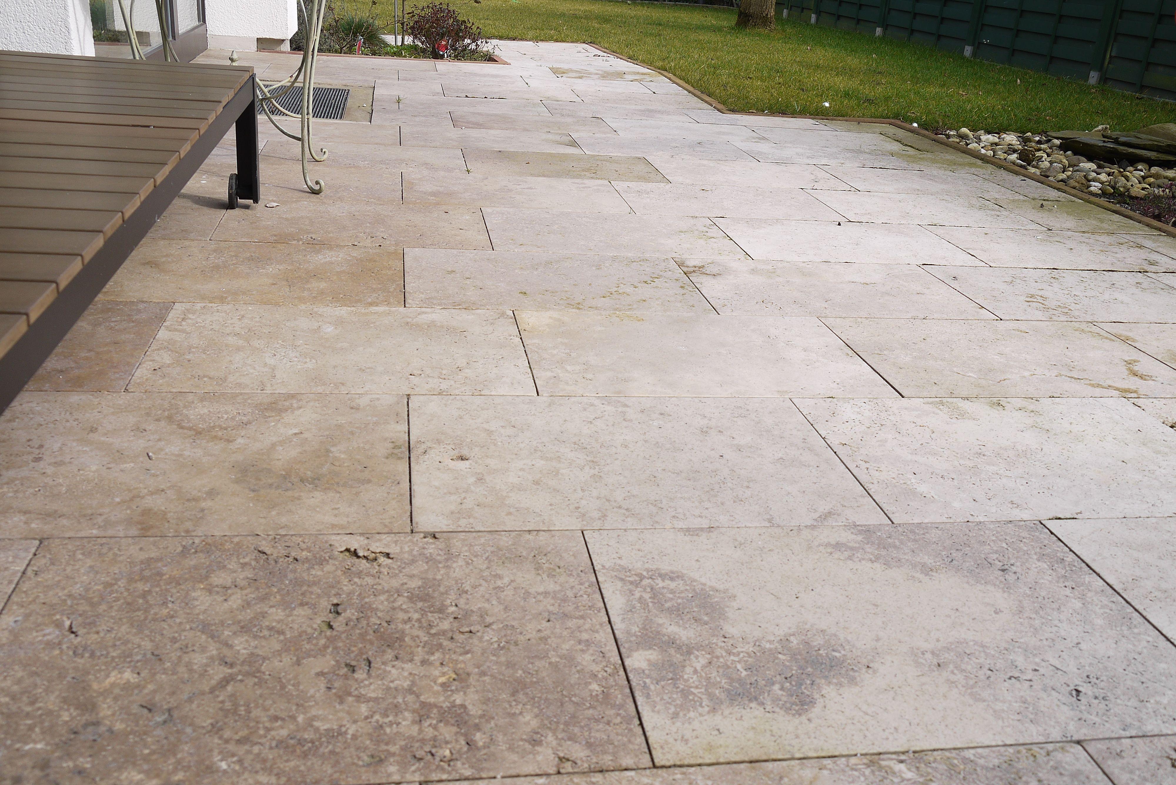 Brilliant Bodenbeläge Terrasse Das Beste Von Braune Travertin Noce Platten Als Bodenbelag Für