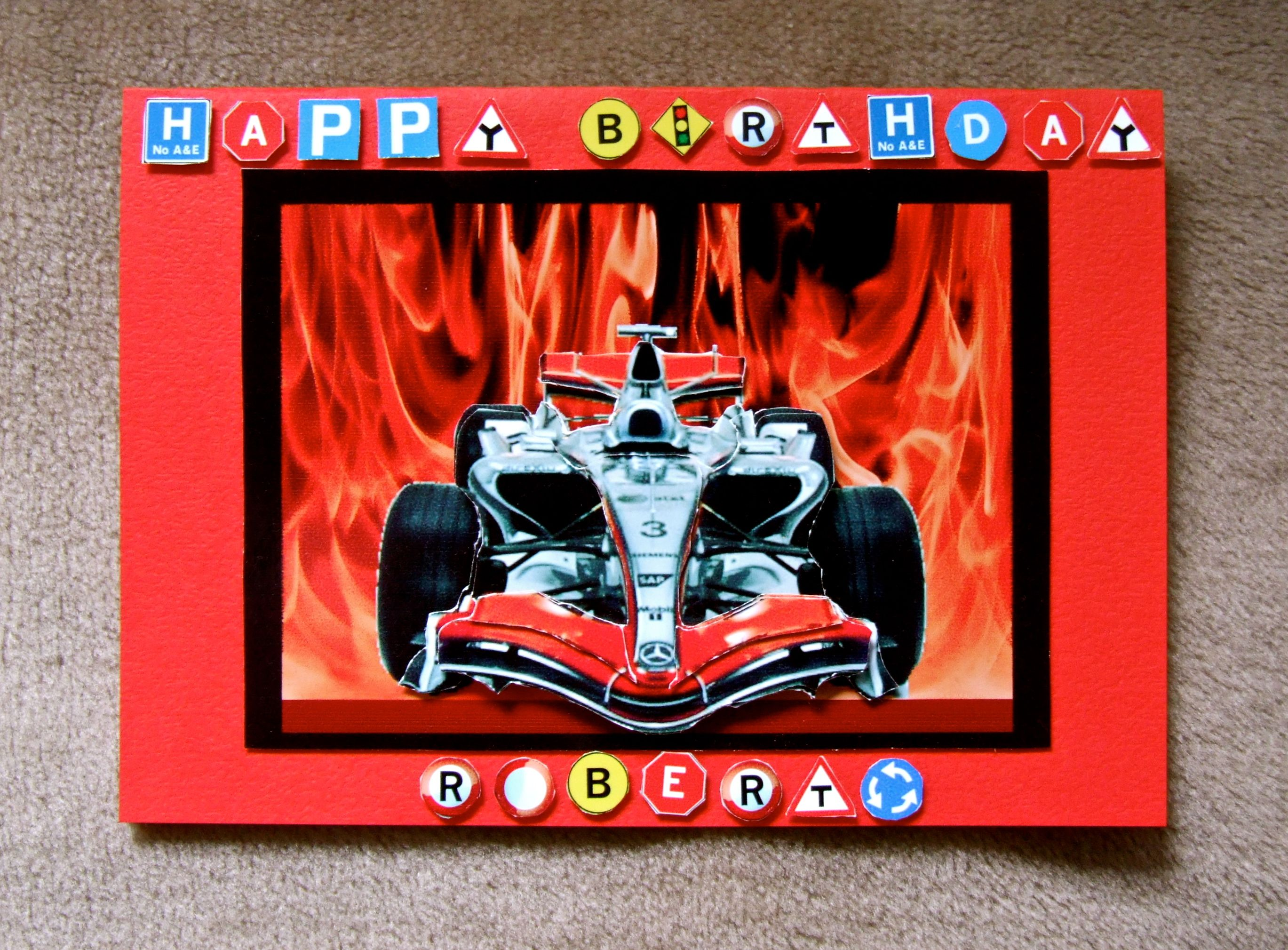 Handmade Racing Car Birthday Card By Mandishella A Sample Of My