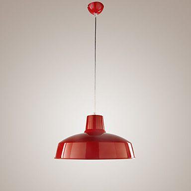 Pendente Handing Lamp Modern Red Led Pendant Lights Lamps Anti Rust Shade Lustres De Salateto Led Pendant Lights Red Pendant Light Lamp Light