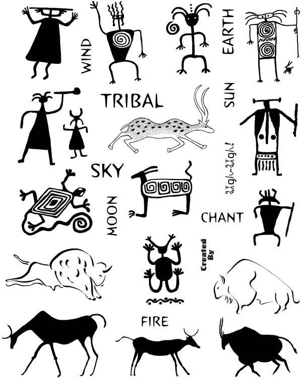 Rock Art And Petroglyphs Unmounted Rubber Stamp Sheet Petroglyphs